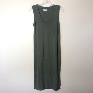 60f2f369171 Madewell Dresses | Olive Green Jersey Tank Midi Dress Sz Xs | Poshmark